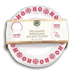 Ho Ho Ho Melamine Accent Plate Set