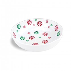 Peppermint Swirl Melamine Bistro Bowl