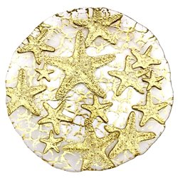 "Sea Star 8.5"" Gold Plate"