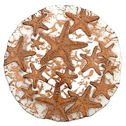 "Sea Star 8.5"" Bronze Plate"