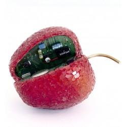 Apple Byte Red Glass Mosaic