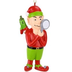 Elf Searching for The Christmas Pickle Ornament