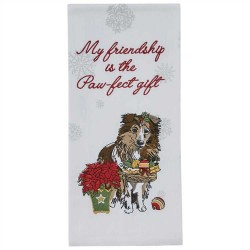 The Paw-Fect Gift Embroidered Dishtowel