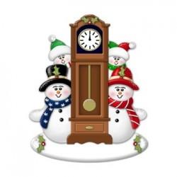 Snow Couple Clock 2 Kids