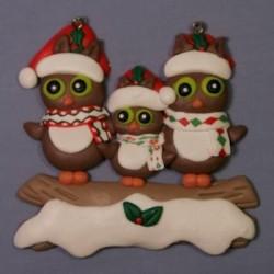 Owl Family W/1 Kid