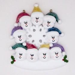 Snow Family Snow Flake- 9 Faces
