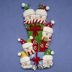 Snowman Family Presents 4 Kids