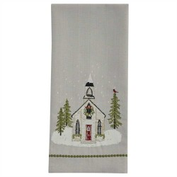 Church Christmas Dishtowel