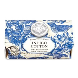 Indigo Cotton Lg Bath Soap Bar