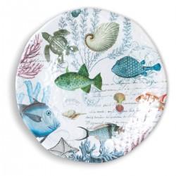 Sea Life Large Round Platter