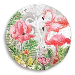 Flamingo Large Round Platter
