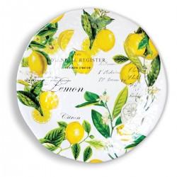 Lemon Basil Large Round Platter
