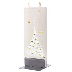 Christmas Tree, White On Gold