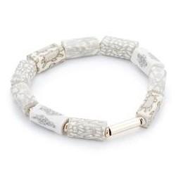 Linen Square Beaded Bracelet (Gold)