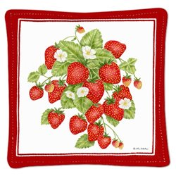 Mug Mat Strawberries Set 4