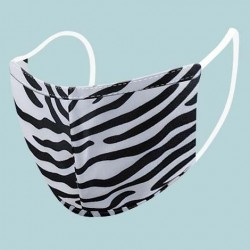 Zebra Protective Reusable Face Mask 2 Layers Cloth Mask (Pack of 2)