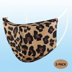 Leopard Protective Reusable Face Mask 2 Layers Cloth Mask (Pack of 2)