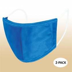 Kids Blue Blank Protective Reusable Face Mask 2 Layers Cloth Mask (Pack of 2)