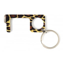 Leopard Print Touchless Keychain
