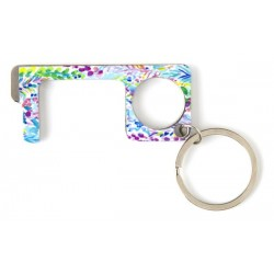 Floral Print Touchless Keychain