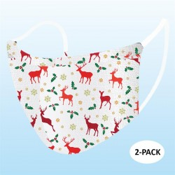 Christmas Deer Face Mask (Pack Of 2)