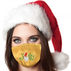Jolly Gold Lame Christmas Face Covering