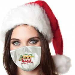 Elves Silver Lame Christmas Face Covering