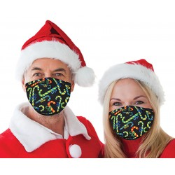 Christmas Candy Cane Face Covering