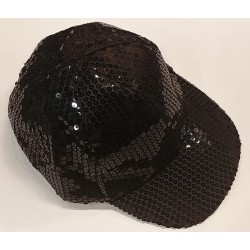 Bling It On Sequin Baseball Caps Black