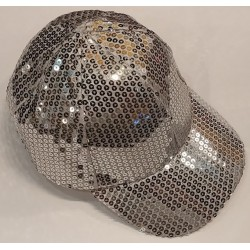 Bling It On Sequin Baseball Caps Silver
