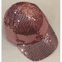 Bling It On Sequin Baseball Caps Pink