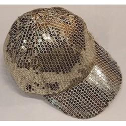 Bling It On Sequin Baseball Caps Gold