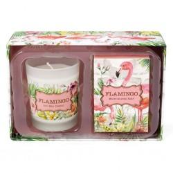 Flamingo Candle & Soap Gift Set