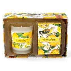 Lemon Basil Candle Soap Gift Set