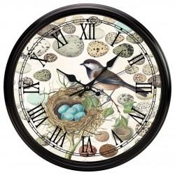 Nest & Eggs Kitchen Clock
