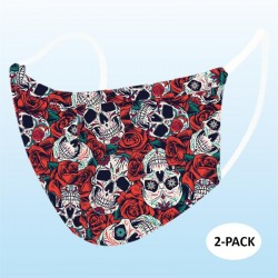 Day of Dead Face Mask (Pack Of 2)