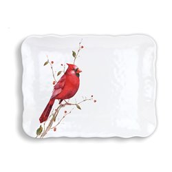 Poinsettia Melamine Cookie Tray