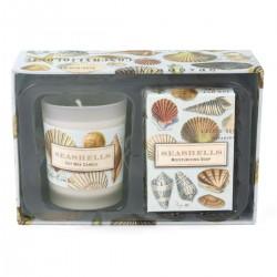 Seashells Candle & Soap Gift Set
