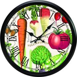 Vegetable Kingdom Kitchen Clock