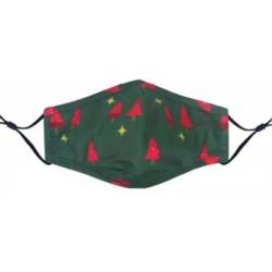 Tree/Star Green Christmas Mask
