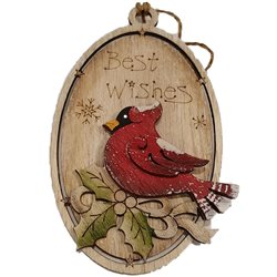 Best Wishes Cardinal Ornament