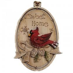 Sweet Home Cardinal Ornament