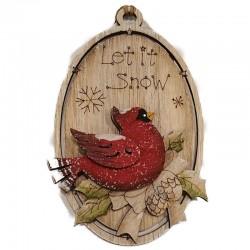 Let It Snow Cardinal Ornament