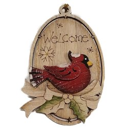 Welcome Cardinal Ornament
