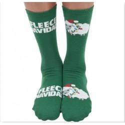 Mens Ugly Christmas Socks Fleece Navidad