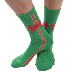 Mens Ugly Christmas Socks Bow