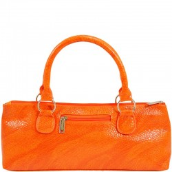 Orange Serpentes Wine Clutch