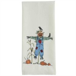Scarecrow Applique Dishtowel