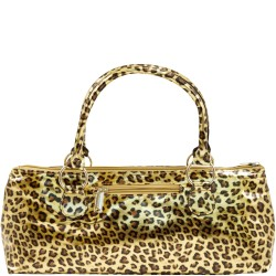Cheetah Wine Clutch