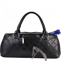 Wine Clutch Black Quilted